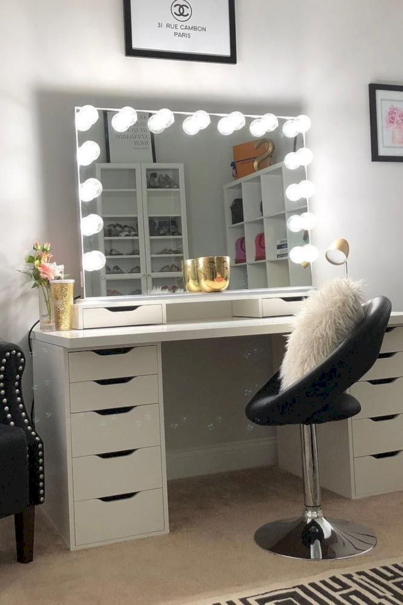 The best makeup table design ideas that you must copy right now 20