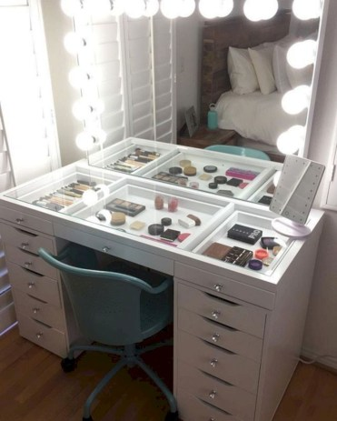 The best makeup table design ideas that you must copy right now 25