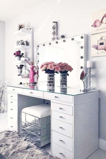 The best makeup table design ideas that you must copy right now 26