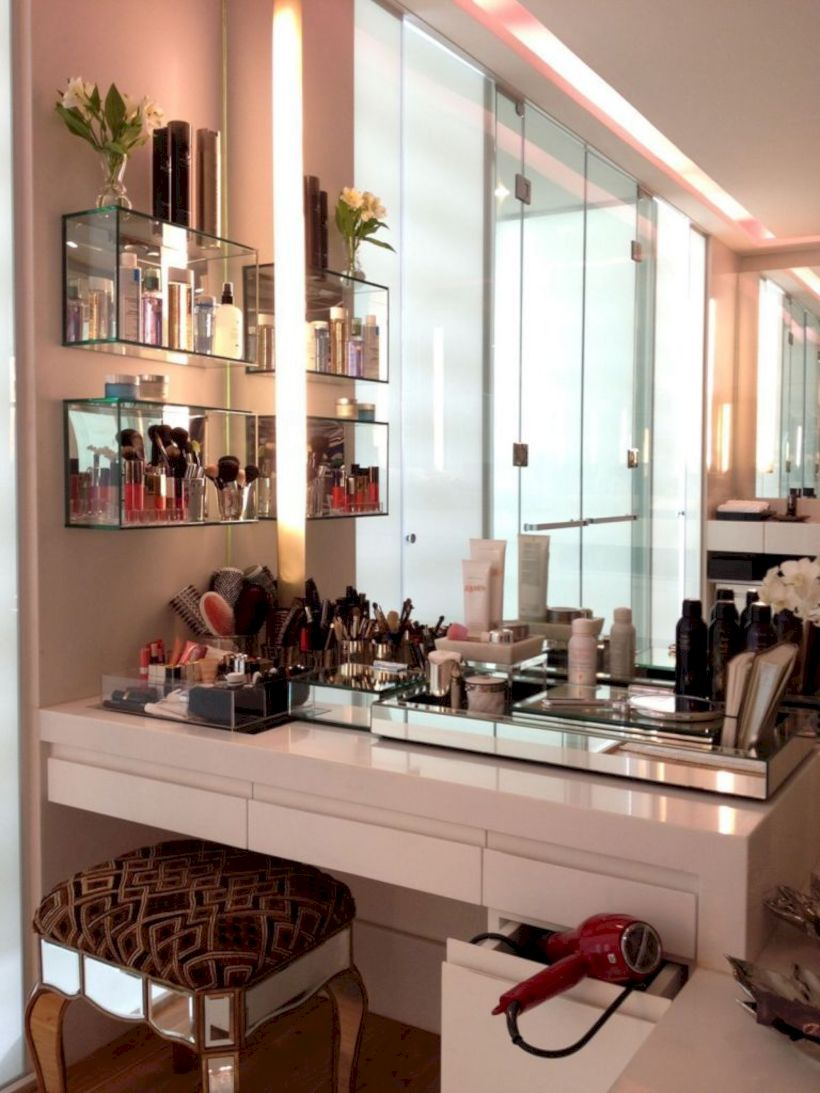 The best makeup table design ideas that you must copy right now 28
