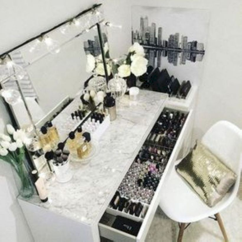 The best makeup table design ideas that you must copy right now 30