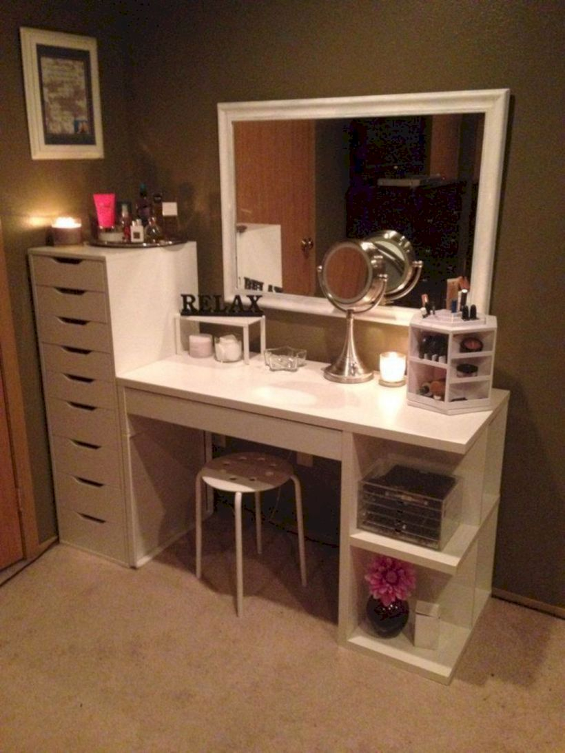 The best makeup table design ideas that you must copy right now 35