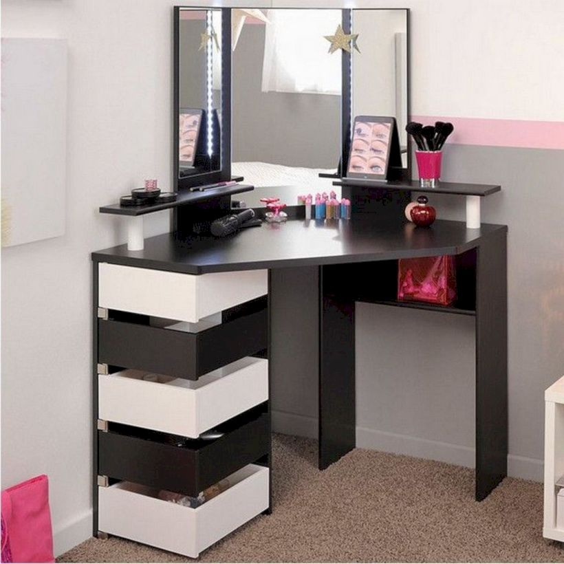 The best makeup table design ideas that you must copy right now 38