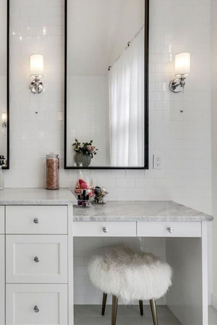 The best makeup table design ideas that you must copy right now 41