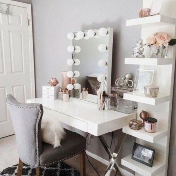 The best makeup table design ideas that you must copy right now 43