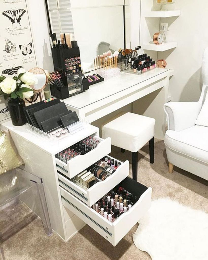 The best makeup table design ideas that you must copy right now 50