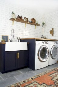 Trend small laundry room design ideas that you can try 12