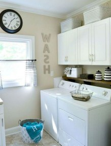 Trend small laundry room design ideas that you can try 14