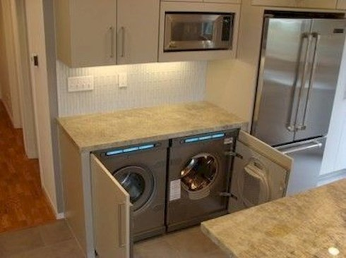 Trend small laundry room design ideas that you can try 18