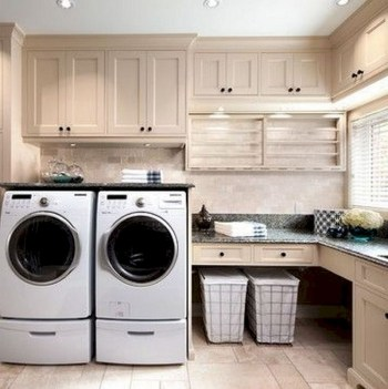 Trend small laundry room design ideas that you can try 30