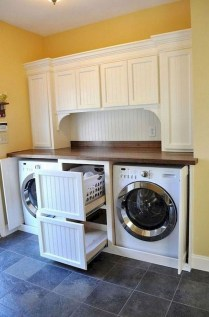 Trend small laundry room design ideas that you can try 39