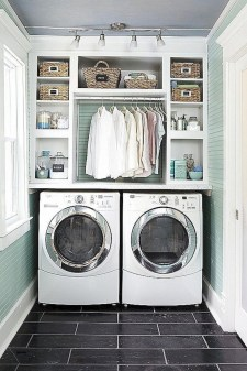 Trend small laundry room design ideas that you can try 46