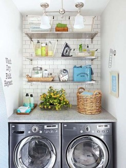 Trend small laundry room design ideas that you can try 50