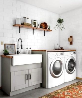 Inspiring small laundry room design ideas in spring 2019 35