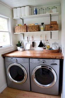 Inspiring small laundry room design ideas in spring 2019 41