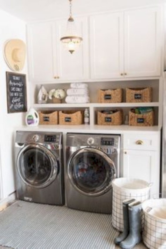 Inspiring small laundry room design ideas in spring 2019 46