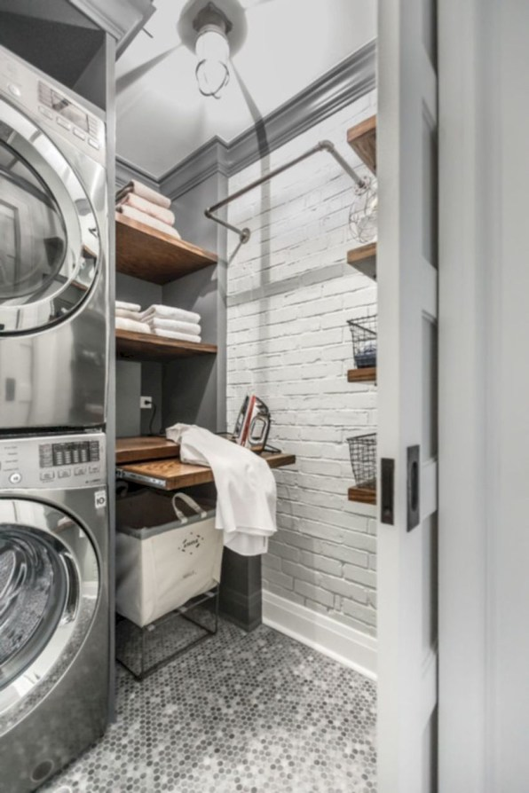 Laundry design ideas with drying room that you must try 06