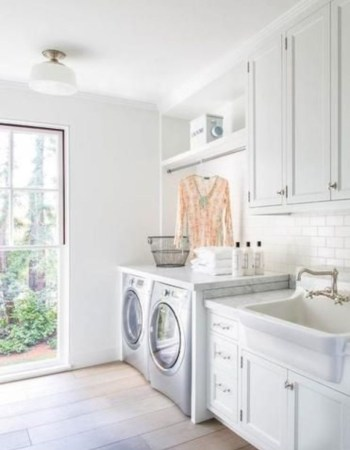 Laundry design ideas with drying room that you must try 22