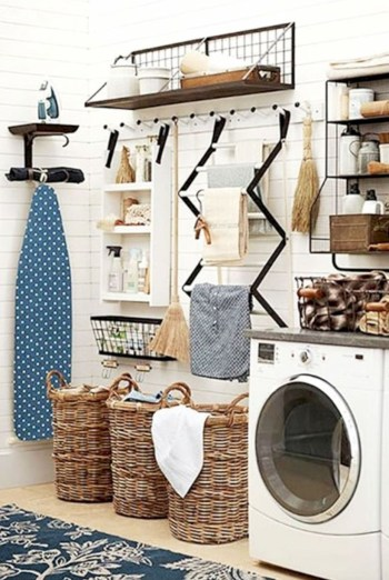 Laundry design ideas with drying room that you must try 23