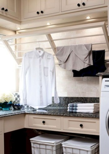 Laundry design ideas with drying room that you must try 34