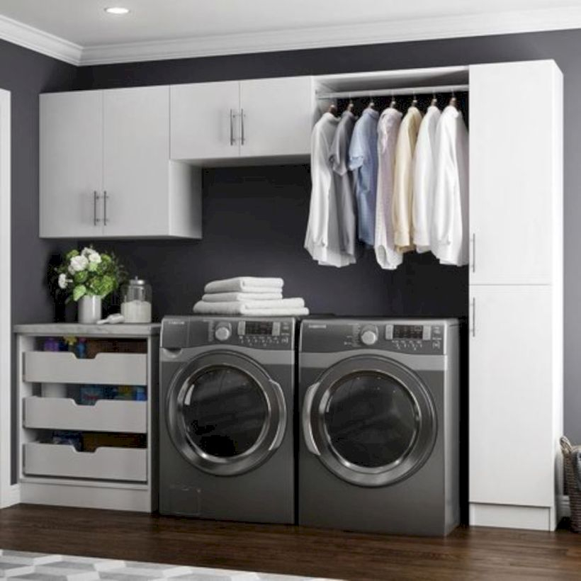 Laundry design ideas with drying room that you must try 36