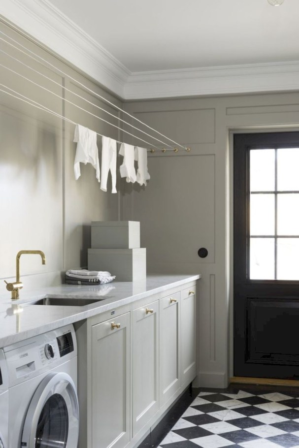 Laundry design ideas with drying room that you must try 44