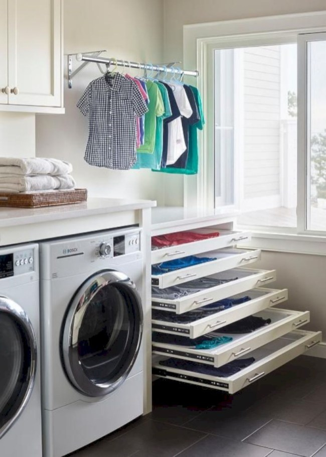 Laundry design ideas with drying room that you must try 45