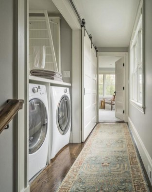 Laundry design ideas with drying room that you must try 46