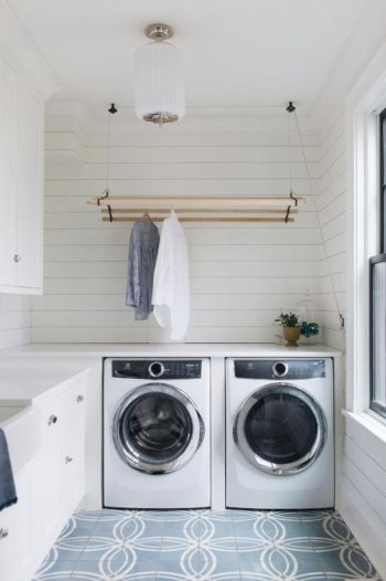 Laundry design ideas with drying room that you must try 47