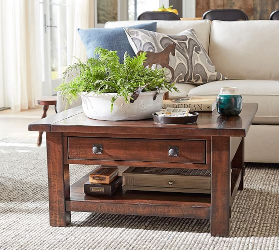 An incredible small table of teak wood furniture for storage for your room