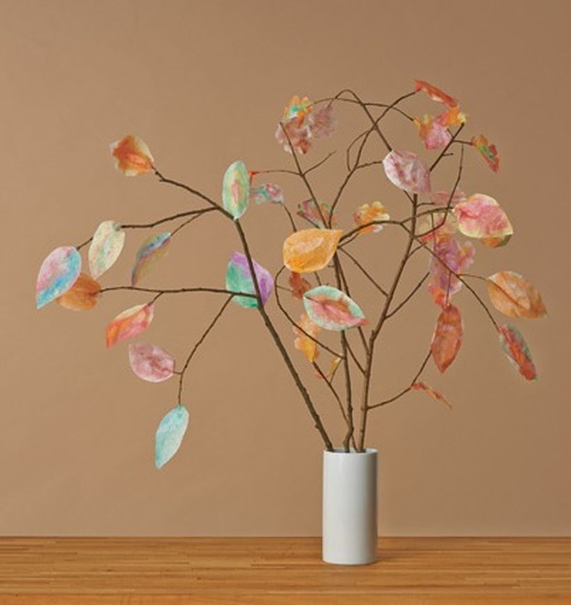 Best unused items crafts ideas with colorful fall leaves to create your class room more beauty