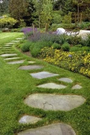 On budget garden walk path ideas for an easy movement around the garden 38