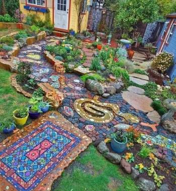 On budget garden walk path ideas for an easy movement around the garden 42