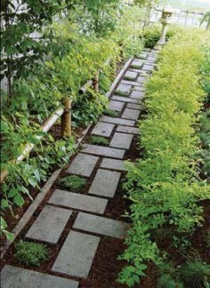 On budget garden walk path ideas for an easy movement around the garden 44