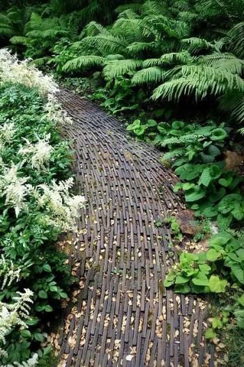 On budget garden walk path ideas for an easy movement around the garden 54