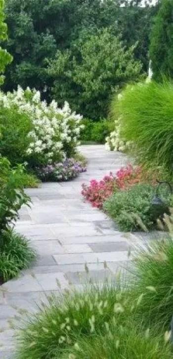 On budget garden walk path ideas for an easy movement around the garden 58