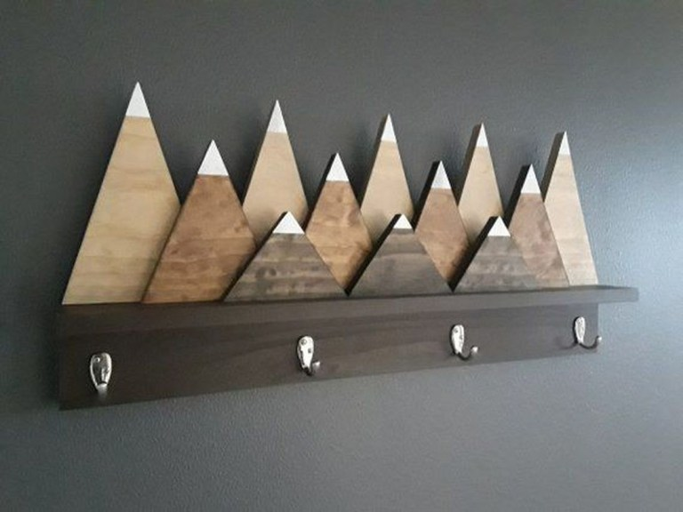 Wooden rack ideas to be applied into any home styles for a warmer room impression 05
