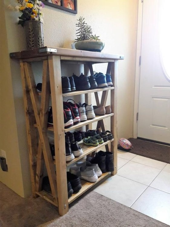 Wooden rack ideas to be applied into any home styles for a warmer room impression 17