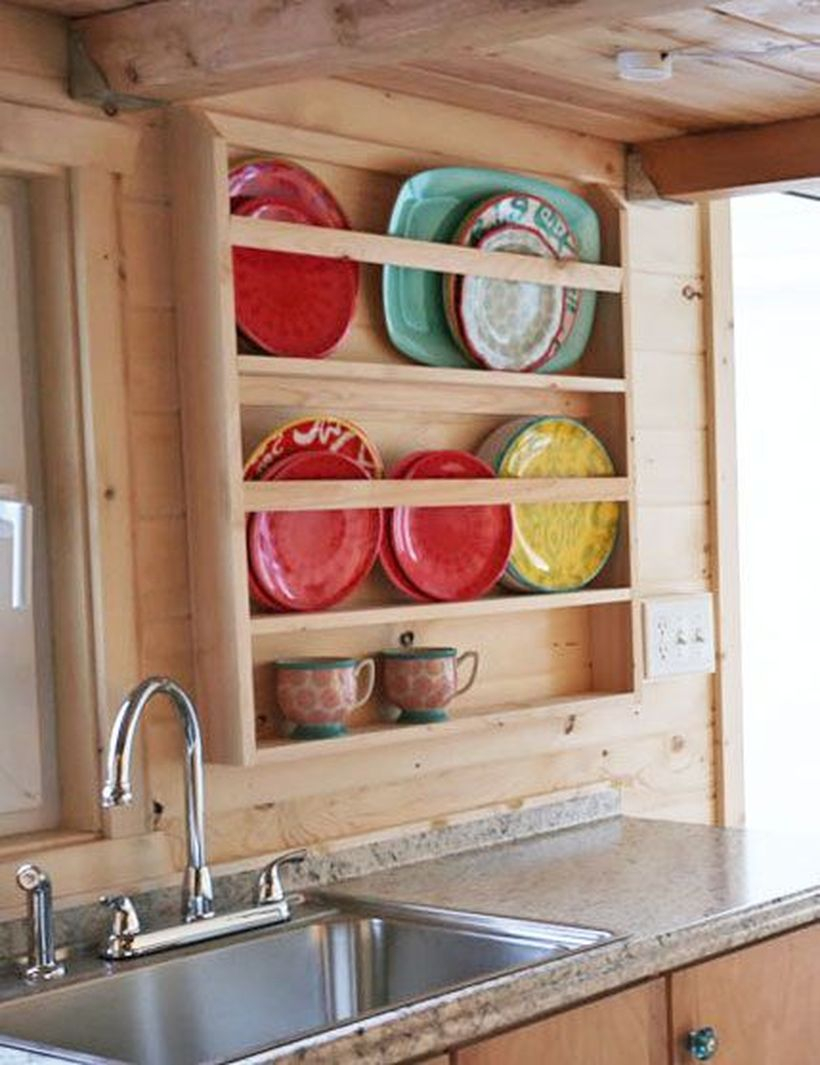Wooden rack ideas to be applied into any home styles for a warmer room impression 27