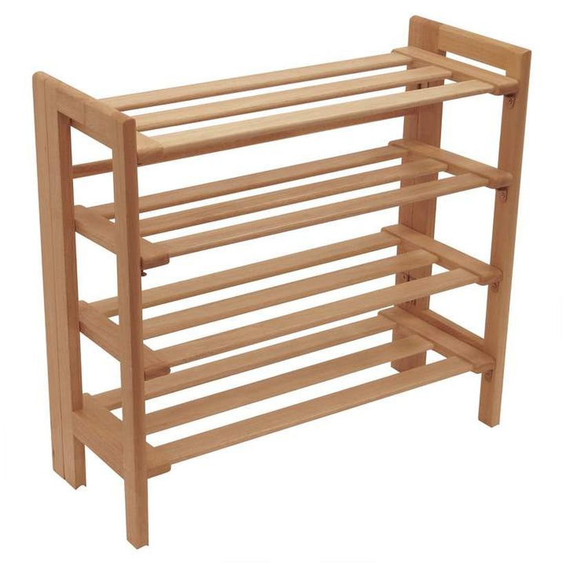 Wooden rack ideas to be applied into any home styles for a warmer room impression 32