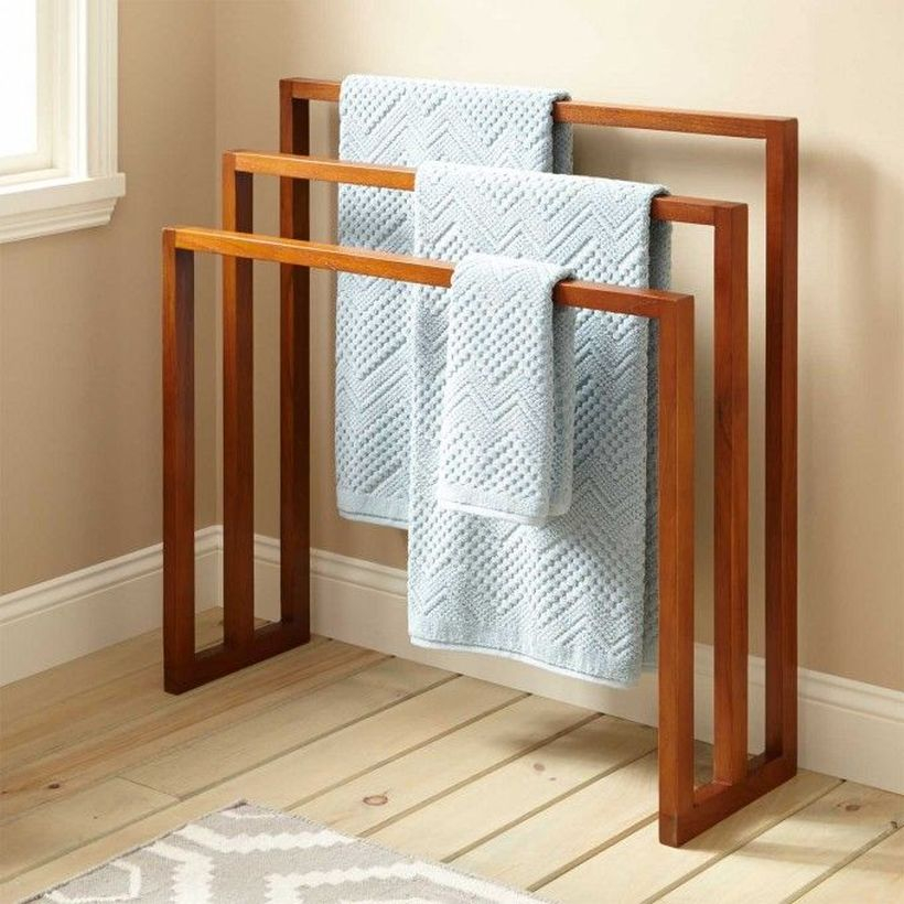 Wooden rack ideas to be applied into any home styles for a warmer room impression 41