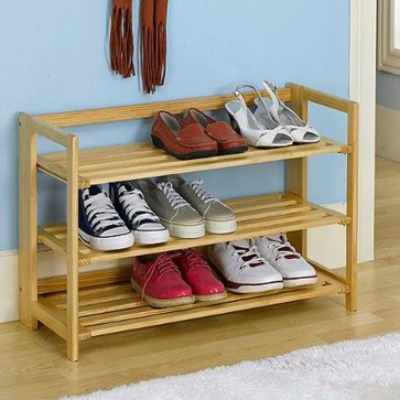Wooden rack ideas to be applied into any home styles for a warmer room impression 49