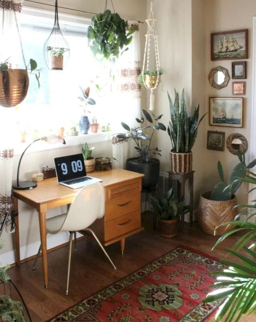 Modern boho home office