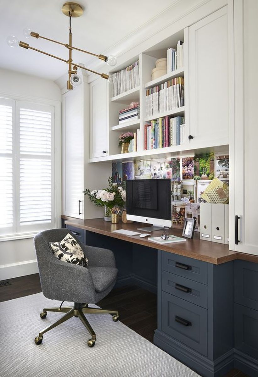 Cozy monochrome home office