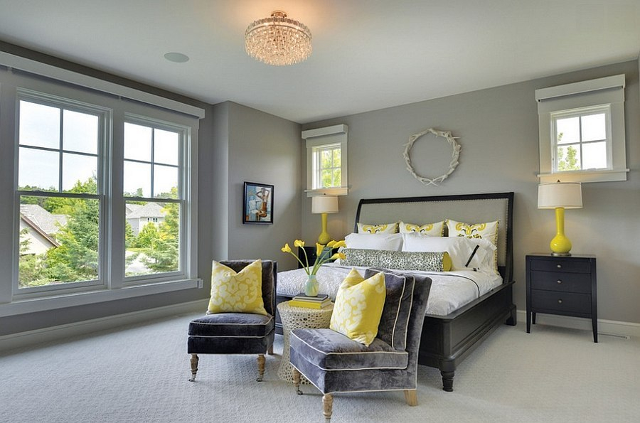 An amazing home paint colors with neutral gray it is bright that can make you sleep well