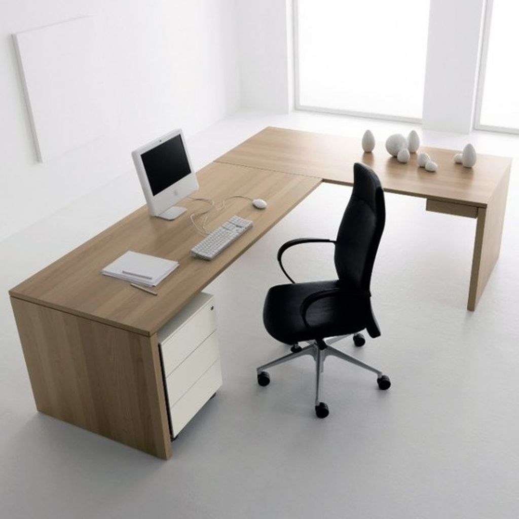 An awesome desk design with l shaped desk to perfect your office home