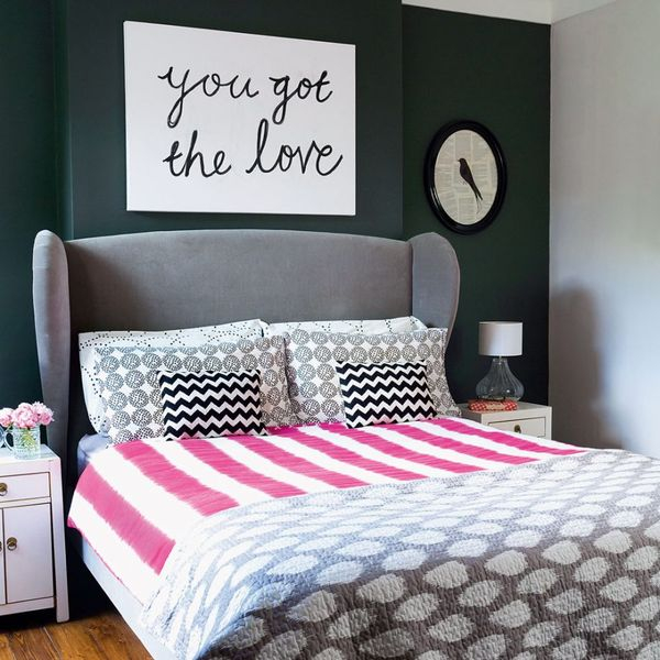Beautiful girl bedroom with small flower decoration on the table to perfect your teen girl bedroom