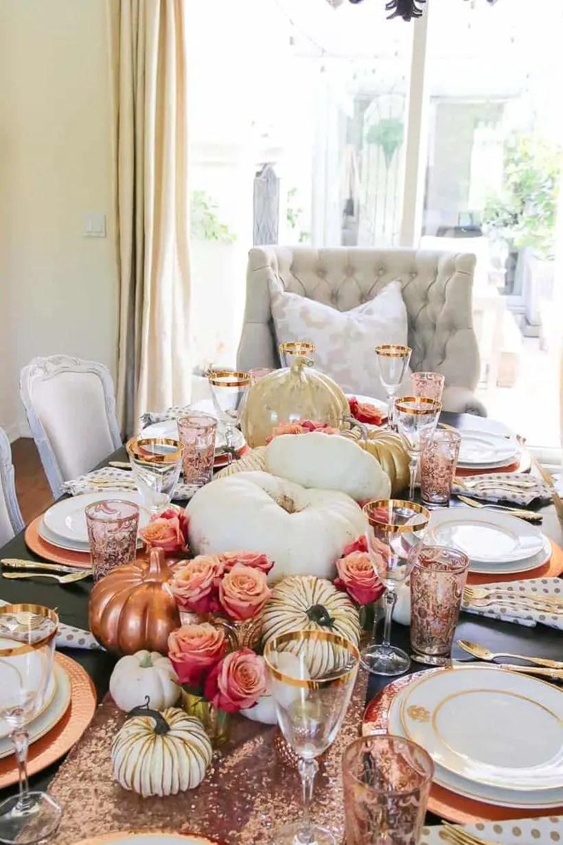 Beautiful white pumpkin centrepiece ideas