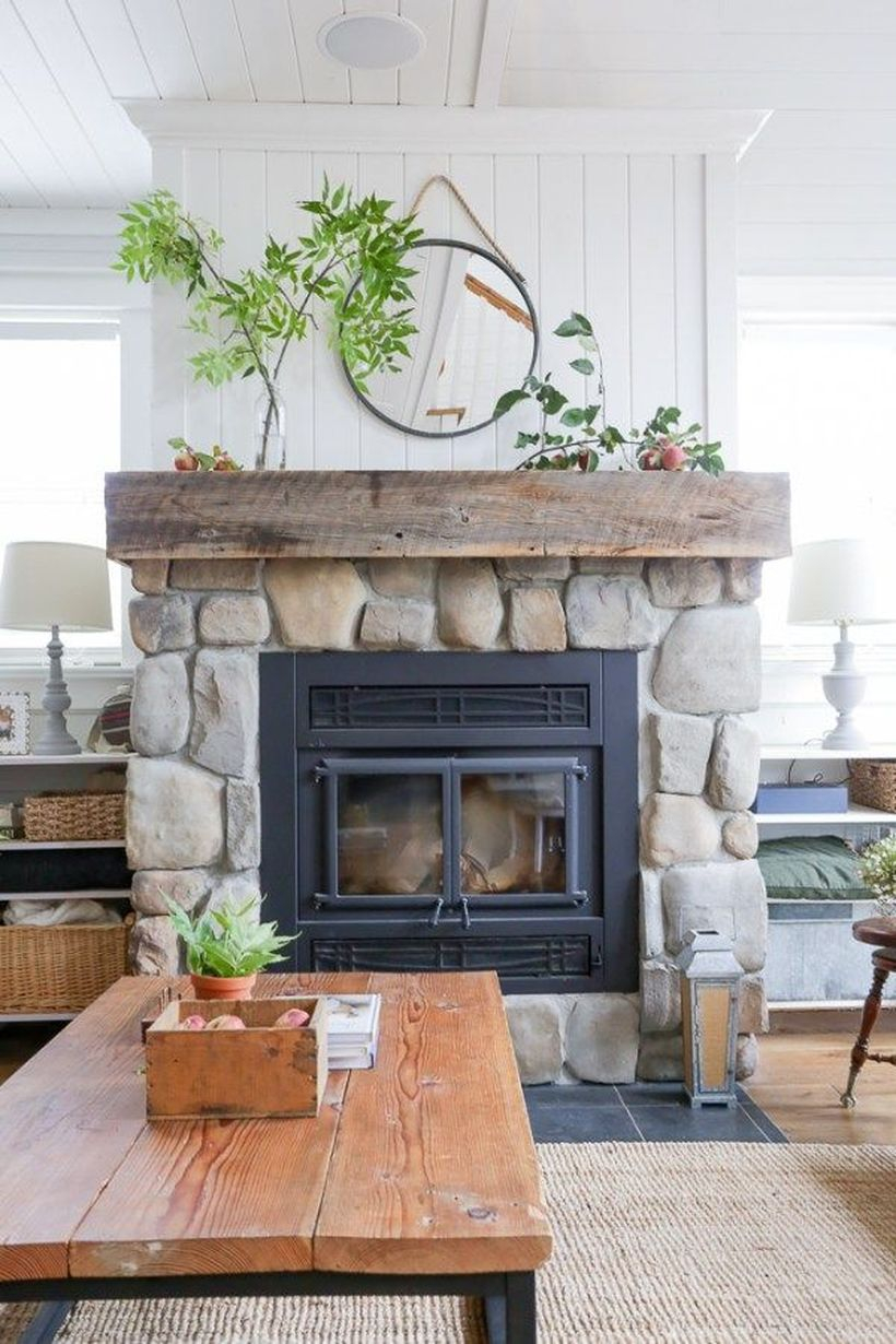 Best green plant fireplace decoration ideas