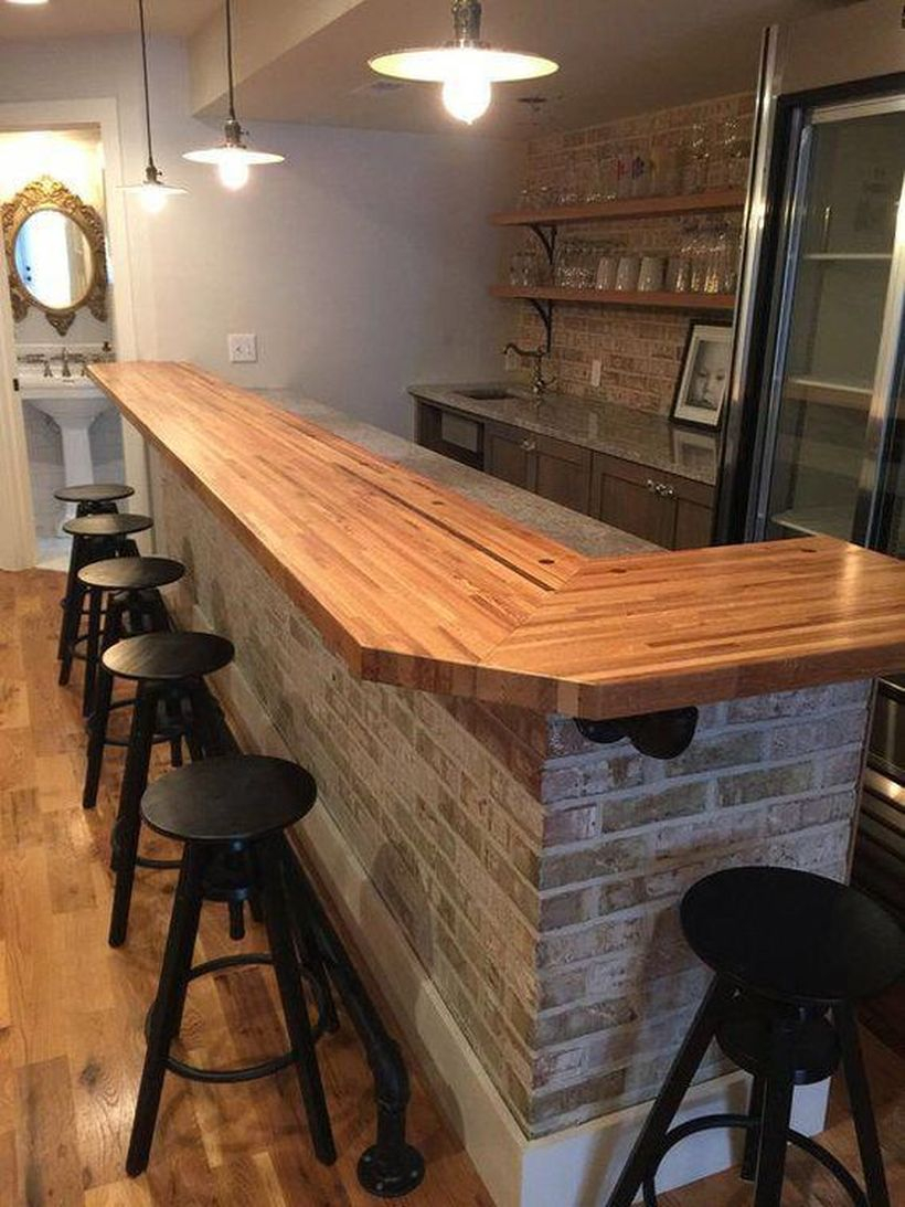 Butcher block countertops table
